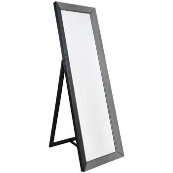 Melanie Cheval Freestanding Mirror, Grey (H155 x W48 x D4cm)