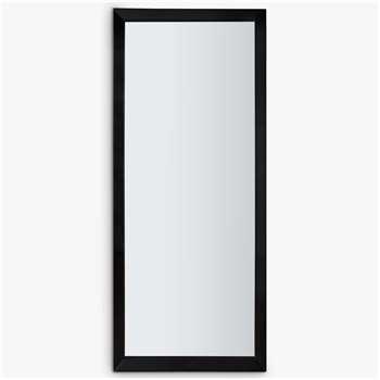 Melanie Leaner Mirror, Black (H178 x W76 x D4cm)