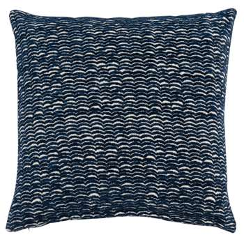 MELISSA - Black Jacquard Weave Cushion Cover (H40 x W40cm)