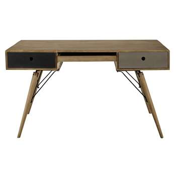 Melting Solid mango wood vintage desk (76 x 137cm)