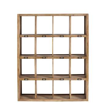 MEMPHIS Solid mango wood shelf unit W 120cm