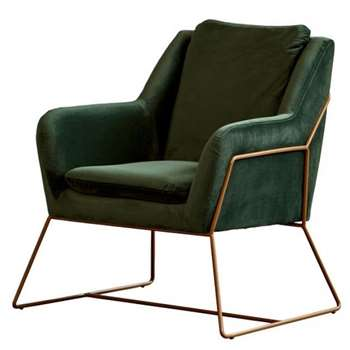 Mentosa Armchair Bottle Green (H85 x W77 x D76cm)