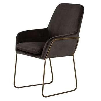 Mentosa Carver Chair - Carbon (H90 x W60 x D60cm)