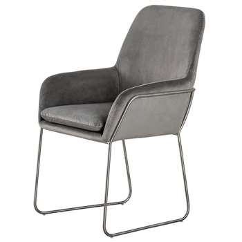 Mentosa Carver Chair - Dove Grey (H90 x W60 x D60cm)