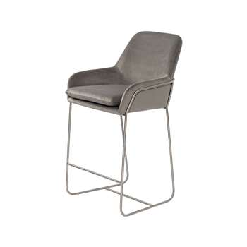Mentosa Counter Stool - Dove Grey (H94 x W58 x D57cm)