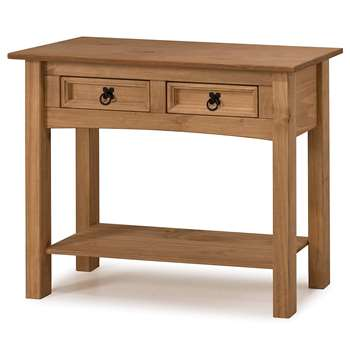 Mercers Furniture - Corona 2-Drawer Console Table, Pine (H73 x W90 x D35cm)