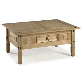 Mercers Furniture - Corona Coffee Table - Pine, Brown (45 x 100cm)