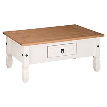 Mercers Furniture Corona Coffee Table, Wood, Cream/Antique Pine