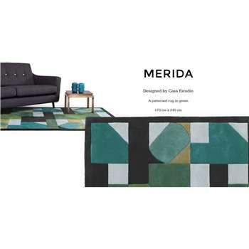 Merida Large Rug, Green (170 x 240cm)