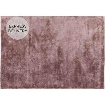 Merkoya Extra Large Luxury Viscose Rug, Pink (H160 x W230 x D1.7cm)