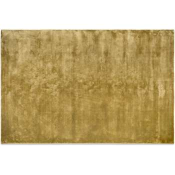 Merkoya Luxury Viscose Rug, Extra Large, Antique Gold (H200 x W300 x D1.7cm)