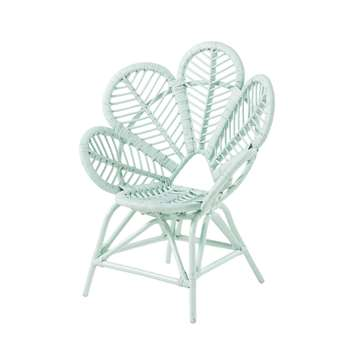 Mermaid - Children's Armchair in Turquoise Blue Rattan (H76 x W62 x D44cm)