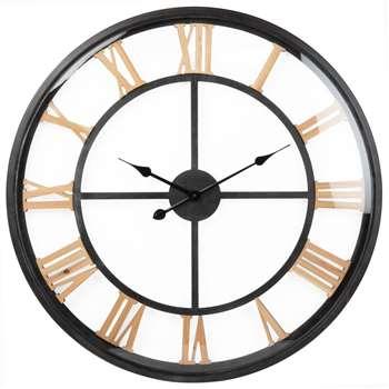 MESA - Black Metal Clock (Diameter 80cm)