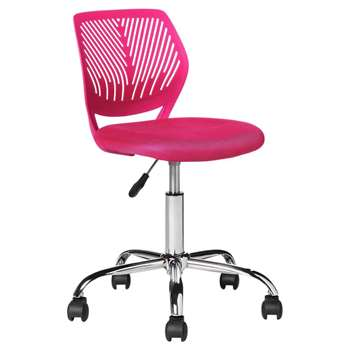 Mesh Gas Lift Height Adjustable Office Chair - Pink (87 x 38cm)