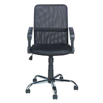 Mesh Gas Lift Mid Back Adjustable - Office Chair - Black (103 x 48cm)