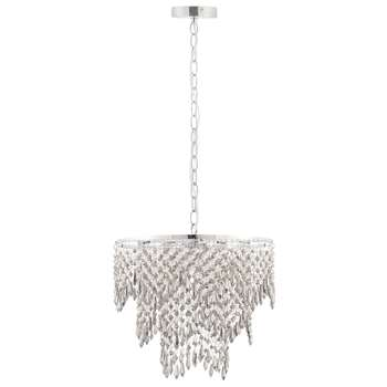 Mesquite 4 Light Ceiling Light Polished Chrome (H110 x W38 x D38cm)