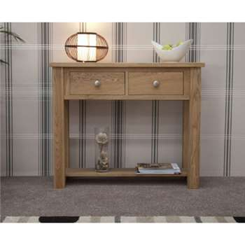 Messina Oak Console Table (83 x 100cm)