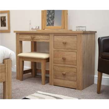 Messina Oak Dressing Table and Stool (75 x 115cm)