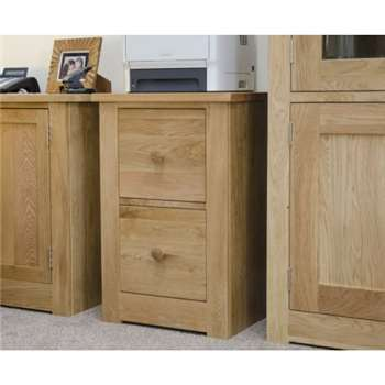 Messina Oak Filing Cabinet (50 x 77cm)