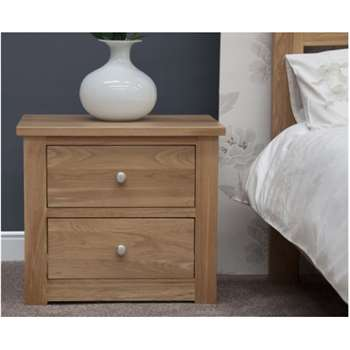 Messina Oak Wide Bedside Chest (58 x 65cm)