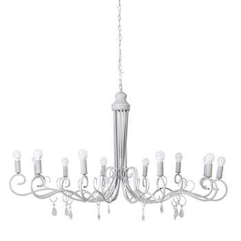 VICTORINE Metal 12 branch chandelier in grey (63 x 118cm)