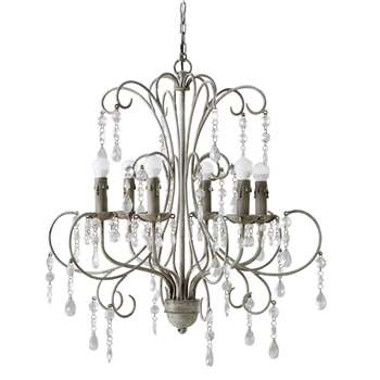 CAPUCINE Metal Drop Bead Chandelier (80 x 72cm)