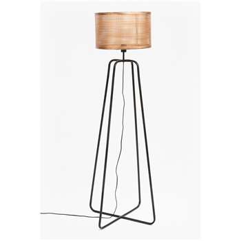 Metal Mesh Shade Floor Lamp (H138 x W42 x D42cm)