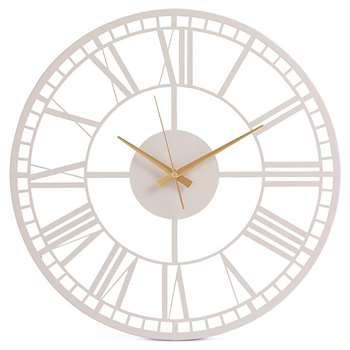 Metal Skeleton Wall Clock, Mushroom (H45 x W45 x D3.5cm)