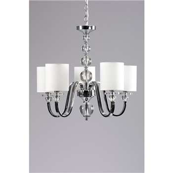 Meyer Five Light Crystal Chandelier (H110 x W55 x D55cm)