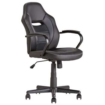 Mid Back Office Gaming Chair - Black (107.5 x 55cm)