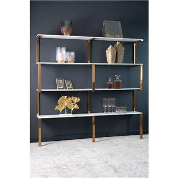 Miko Double Shelf Unit (H176 x W180 x D28cm)