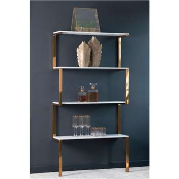 Miko Single Shelf Unit (H176 x W90 x D28cm)