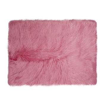 Mila Pink Faux Fur Rug (70 x 100cm)