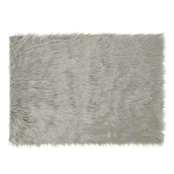 Mila Silver Faux Fur Rug
