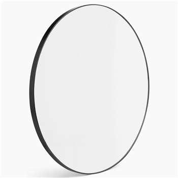 Milan Small Round Mirror, Black (Diameter 55cm)