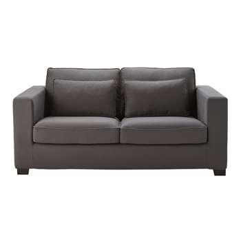 MILANO 3 seater cotton sofa bed in slate grey, mattress (88 x 186cm)