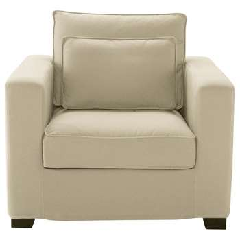 MILANO Cotton armchair in putty (88 x 101cm)
