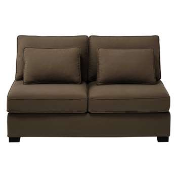 MILANO Cotton modular sofa armless unit in taupe (90 x 151cm)