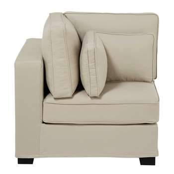MILANO Cotton modular sofa corner unit in putty