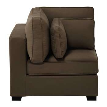 MILANO Cotton modular sofa corner unit in taupe