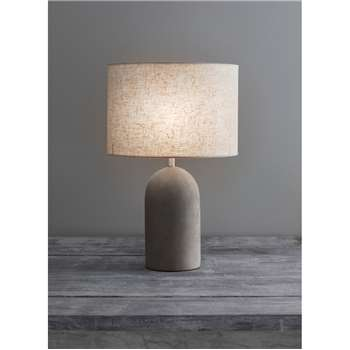 Millbank Bullet Table Lamp - Polymer Concrete (21.5 x 13.2cm)