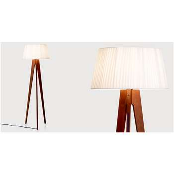 Miller Floor Lamp, Walnut and Navy (150 x 50cm)
