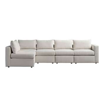 Miller Four Seat Corner Sofa - Left or Right Hand – Calico (H67 x W320 x D163cm)