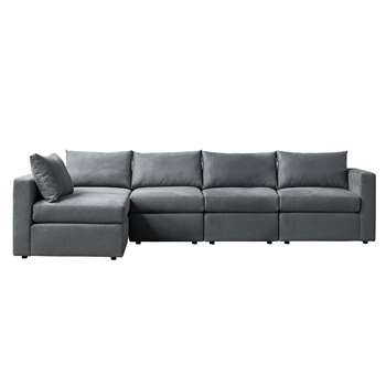 Miller Four Seat Corner Sofa - Left or Right Hand – Charcoal (H67 x W250 x D163cm)