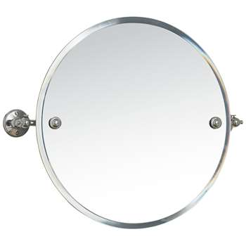 Miller Stockholm Bathroom Swivel Mirror (Diameter 45cm)