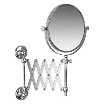 Miller Stockholm Extending Magnifying Shaving Mirror (H19 x W19 x D55cm)