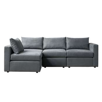 Miller Three Seat Corner Sofa - Left or Right Hand – Charcoal (H67 x W250 x D163cm)
