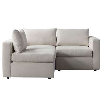 Miller Two Seat Corner Sofa - Left or Right Hand – Calico (H67 x W180 x D163cm)