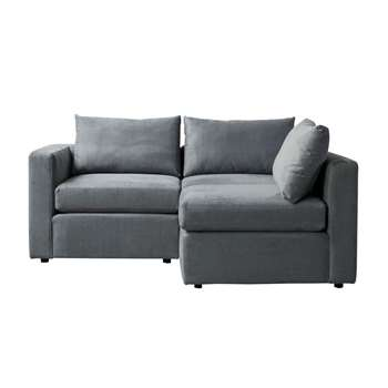Miller Two Seat Corner Sofa - Left or Right Hand – Charcoal (H67 x W180 x D163cm)