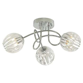 Milly 3 Light Ceiling Light (H20 x W40 x D40cm)